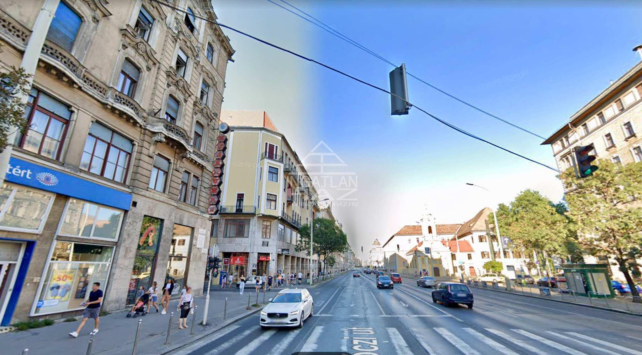 VII.kerület, Belváros, Rákóczi út 150m2,,Utcai,Kirakatos Üzlet Kiadó