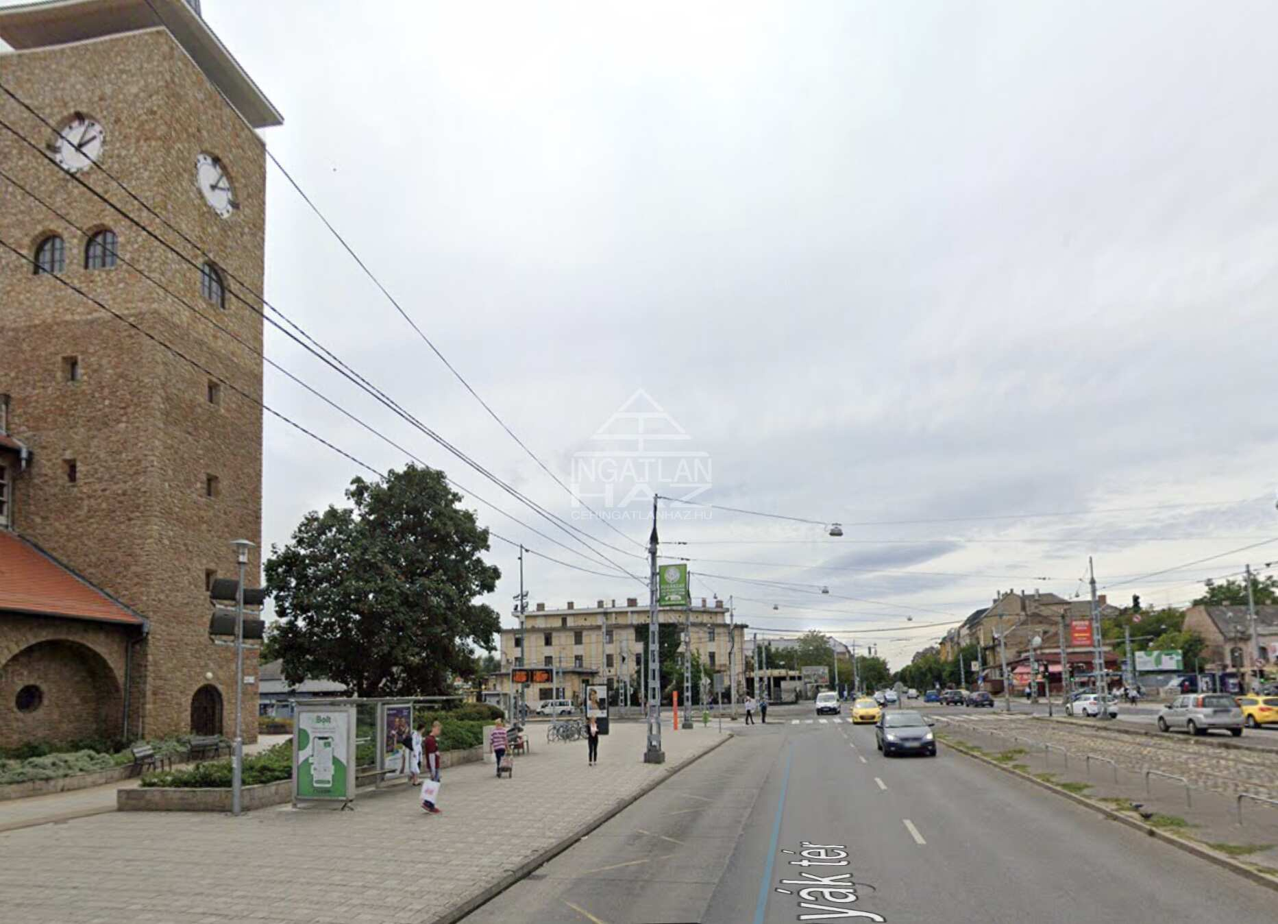 XIV.ker. Bosnyák tér, 1.400 m2 összközműves építési telek eladò