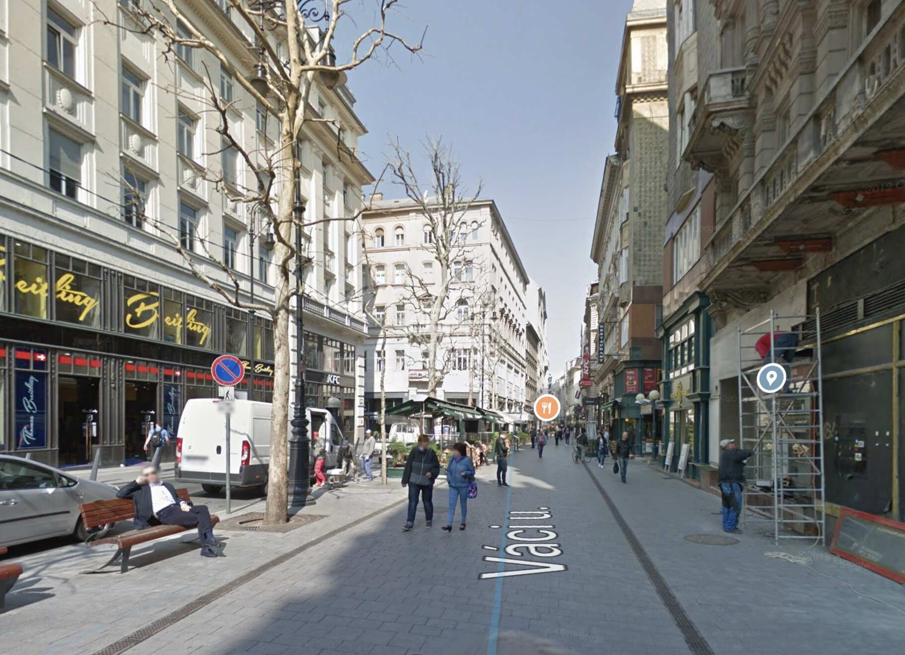 V.ker. Belváros szívében, Váci utcánál, Buddha bárnál, 250 m2 ,, utcai, kirakatos, felújított melegkonyhás üzlethelyiség kiadò