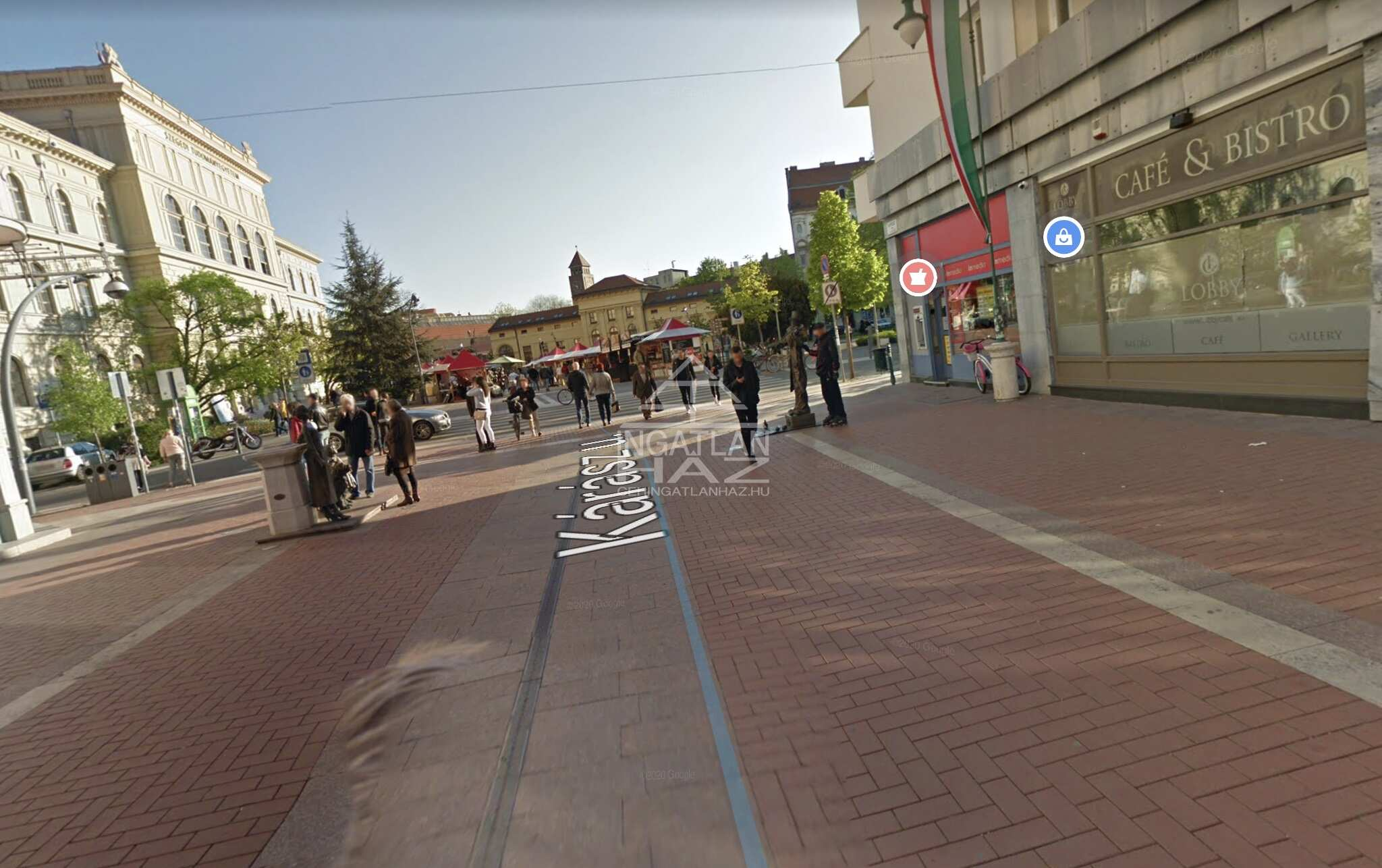 Szeged, belváros szívében, Kárász utcánál,2.150m2,  felújított,melegkonyhás üzlethelyiség eladó